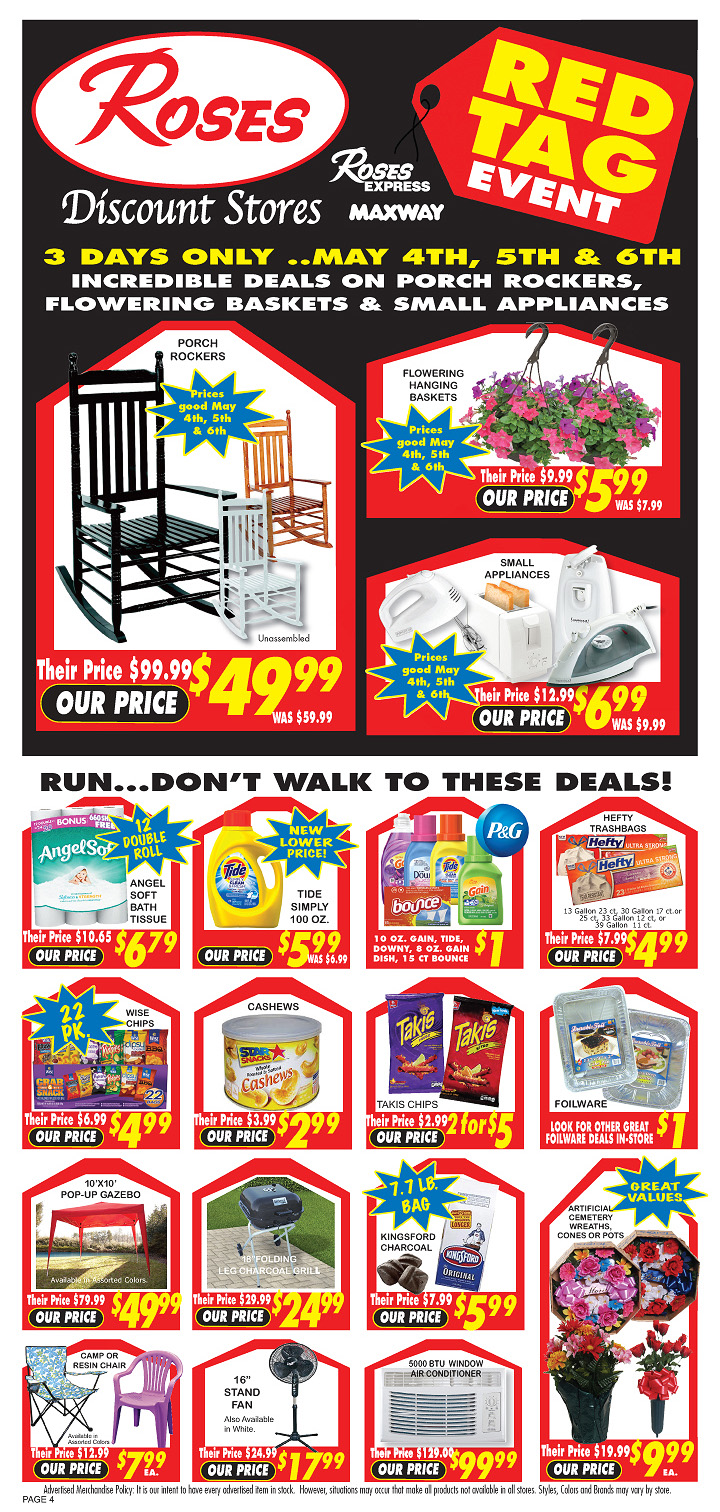 Roses Discount Store At Rising Sun Plaza Tissue Air Galon Mothers Day Specials More